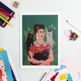 Frida and Her Catlos -...